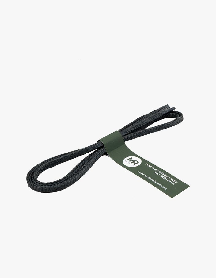 tali-sepatu-lilin-mrshoelaces-thin-flat-nori-dark-green