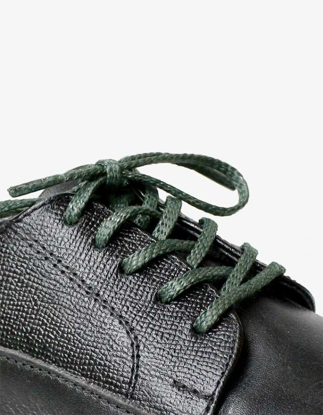 tali-sepatu-lilin-mrshoelaces-thin-flat-nori-dark-green