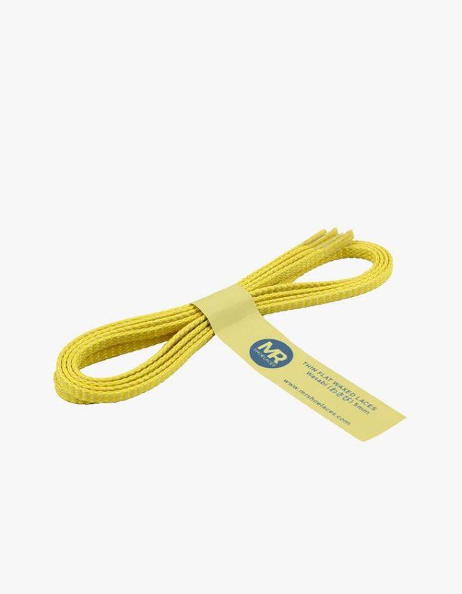 tali-sepatu-lilin-mrshoelaces-thin-flat-wasabi-green-yellow