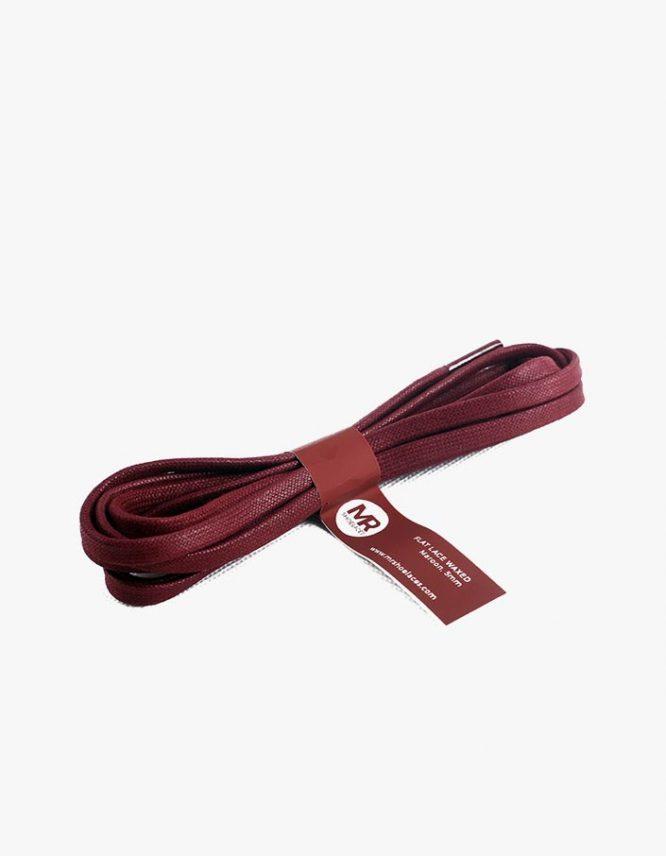tali-sepatu-lilin-gepeng-5mm-mrshoelaces-flat-waxed-shoelaces-maroon